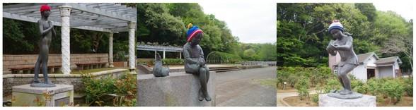 20170422_大町自然公園バラ園の銅像.jpg